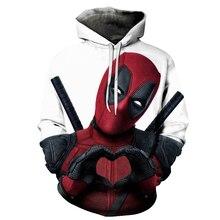 2019 Nieuwe 3D Print Marvel Superheld Deadpool 2 Hoodie Mannen Vrouwen Casual Hoodies Streetwear Hooded Sweatshirt Mode Grappige Kleren