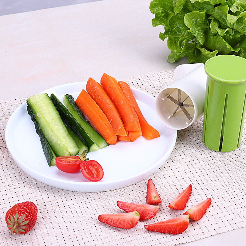 Vegetable Kitchen Cucumber Divider Carrot Strawberry Slicer Splitter Gadget Cutting Tool drop shipping in Shredders Slicers from Home Garden