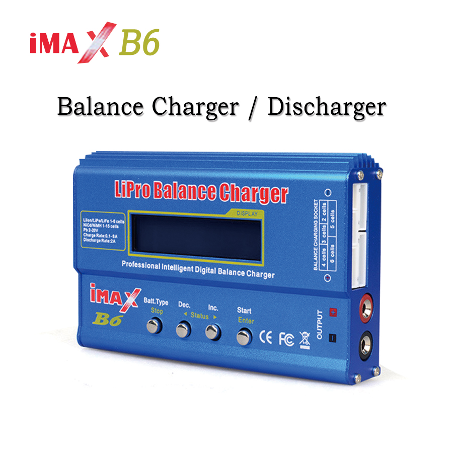 iMAX B6 80W Digital Balance Charger Discharger for RC Helicopter Battery Lipo NiMh Li ion Ni