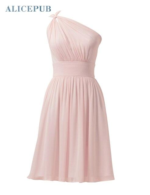 d72c33cc863 Alicepub Bridesmaid Dresses Short Chiffon Wedding Prom Party Celebrity Dress  Homecoming Dressing Ball Gowns Free Shipping