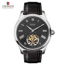 Classic Tourbillon Mechanical Watch Mens Crocodile Leather Strap Roman Scale Dial Men Swiss Seagull Movement Mechanical Watches все цены