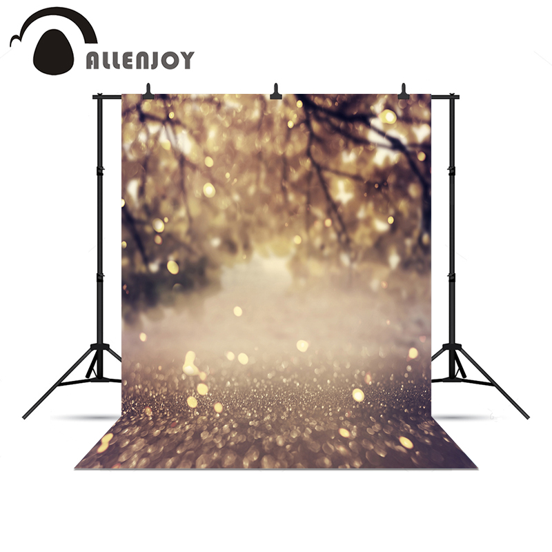Allenjoy photographic camera Autumn golden shiny pastel backdrops professional background for photo shoots a bag vinyl cloth