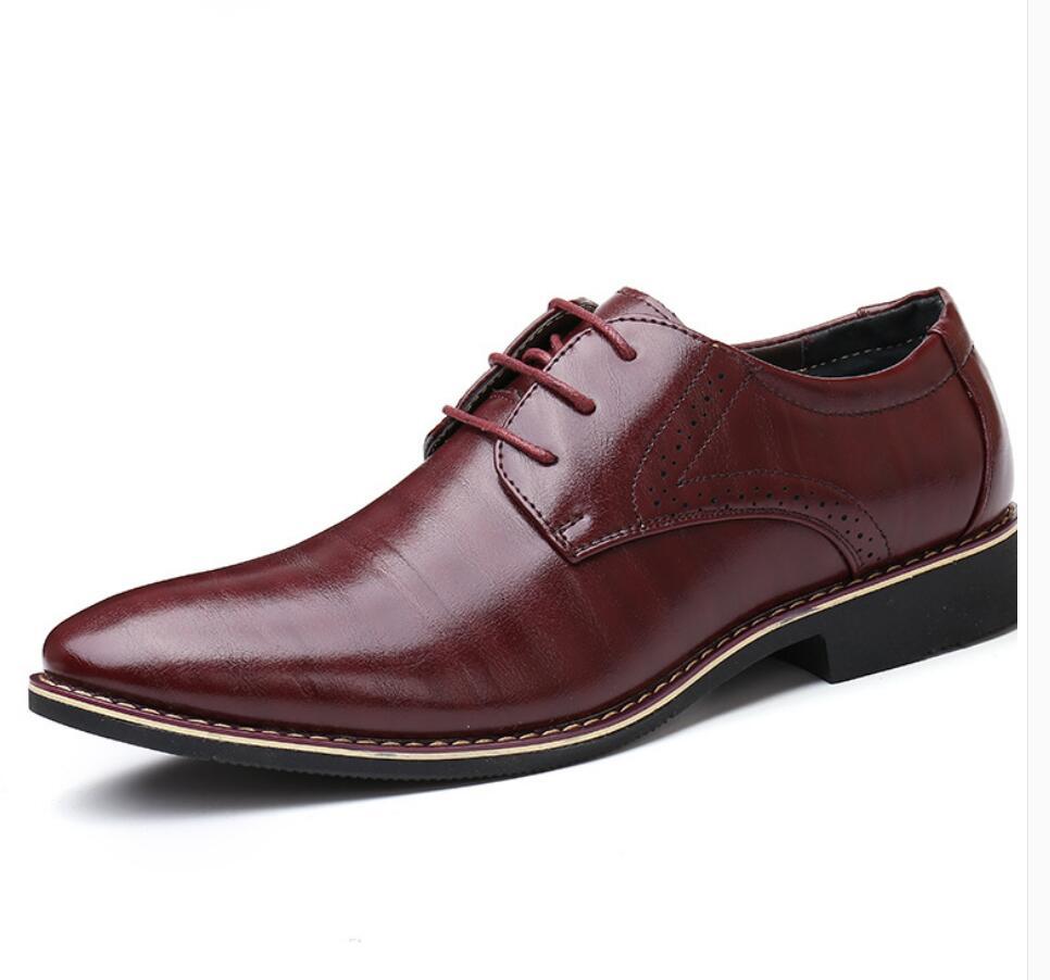 2019 Italia Luxus Männer Echtes Leder Schuhe Herren Lace Up Schuhe Business Erwachsene Männliche Hochzeit Kleid Formalen Schuh Mann Chaussure