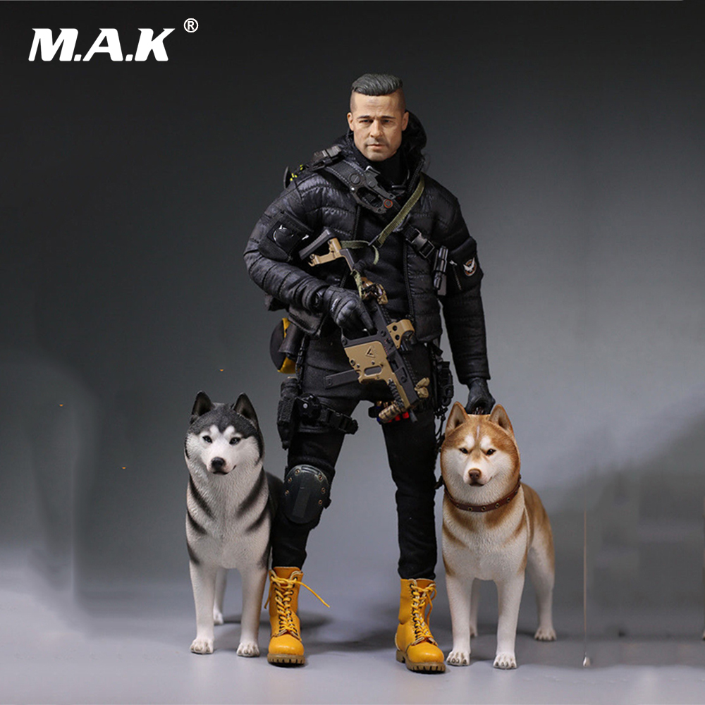 In stock 6 Colors 1:6 Accessories Siberian Husky Simulation Animals Sixteenth Dog Figure Model Toys for 12 '' Action Figure damtoys 1 6 gangsters kingdom side story neil gks004 for 12 action figure collection toys gifts in stock