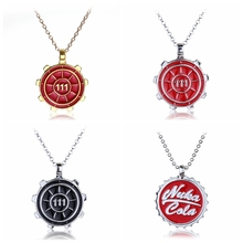 Game Series Fallout 4  Vault 111 choker Maxi Necklaces Pip Boy Cola Fallout Necklace Metal Pendant For Boys Gift