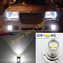 Par branco h10 9140 9145 xbd chips led luz de nevoeiro drl lâmpada para chrysler 300 c sebring pt dodge magnum cruiser