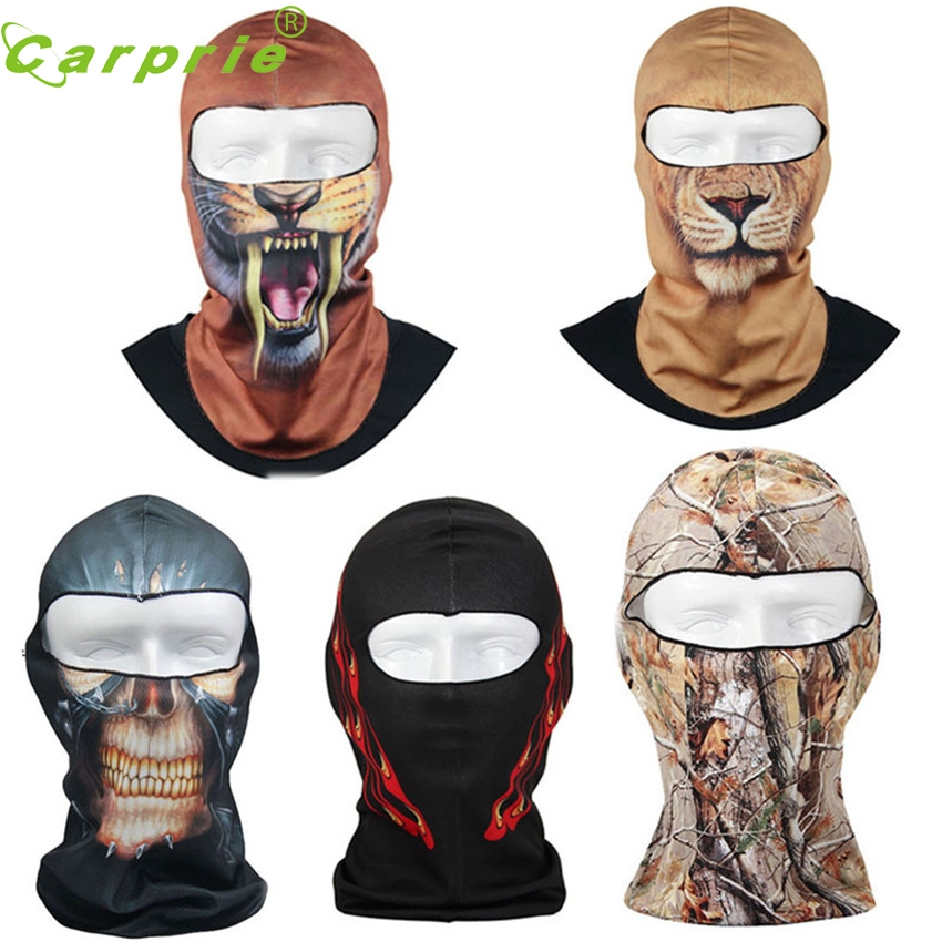 CARPRIE Super drop ship New Thin 3D Outdoor Cycling Ski Balaclava Neck Hood Full Face Mask Hat Beanie Animal Mar715 2017 new full face cover mask three 3 hole balaclava knit hat winter stretch snow mask beanie hat cap new black warm face masks