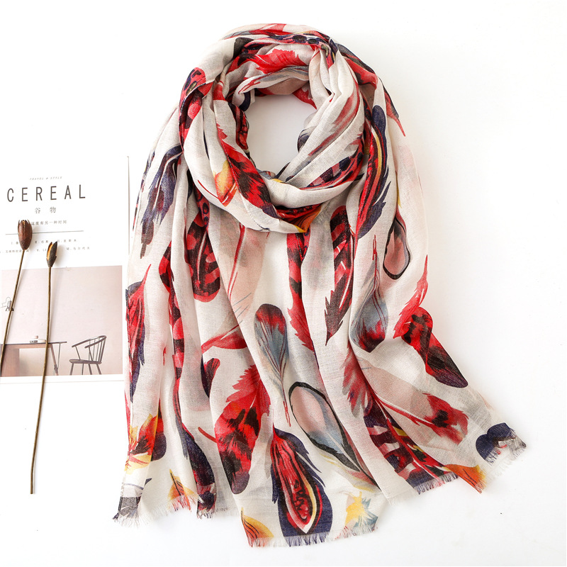 2019 Ladies Fashion Sexy Feather Fringe Viscose Shawl Scarf Spring Summer Ethnic Muffler Headband Foulard Sjaal Wrap Hijab Snood