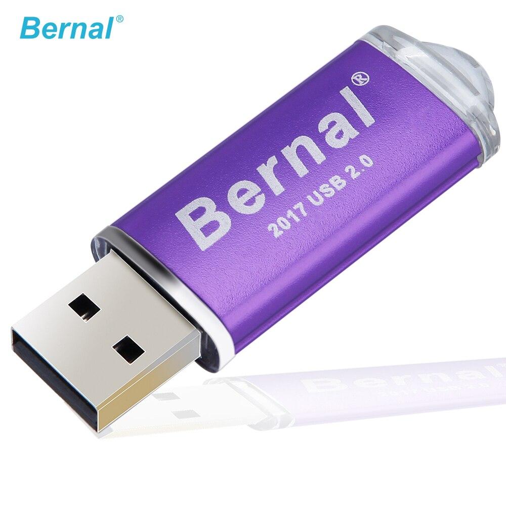 Bernal USB Flash Drive 256 gb 16 gb 32 gb 64 gb di memoria flash In Metallo Pendrive Ad Alta Velocità USB 2.0 flash Drive con Portachiavi Bastone