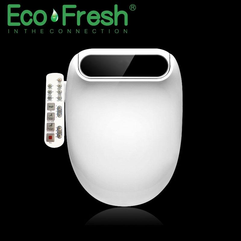 Ecofresh sedile Intelligente wc Washlet Allungare Elettrico Bidet della copertura di calore ha condotto la luce di lavaggio a secco di massaggio uomo donna bambino oldman