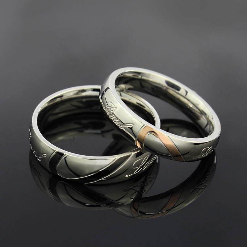 2018 New Fashion Heart Ring Wedding Rings Stainless Steel For Men And Women In From Jewelry Accessories On Aliexpress
