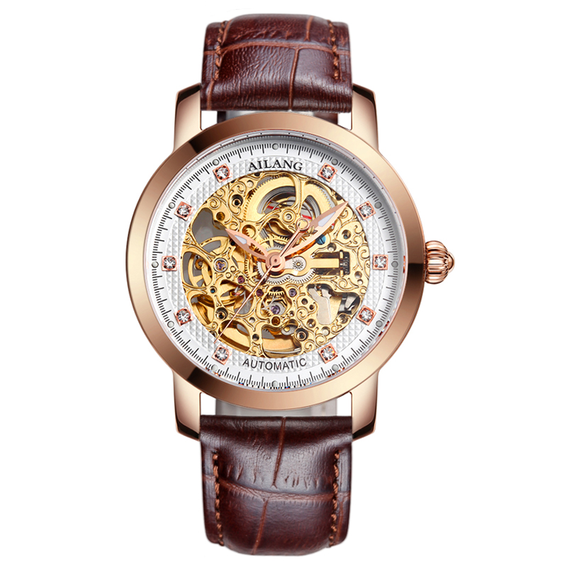 лучшая цена AILANG 6813 Switzerland watches men luxury brand automatic Genuine hollow watches high-quality waterproof Business Weekly Best