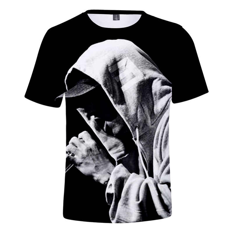 Hot Selling Men's Short Sleeve EMINEM T-shirt 3D Digital Printing Character Boy Girl Tops Trend Fashion Clothes Tshirt Women/Men