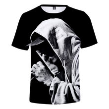 827a9e38a4d1a5 Hot sprzedaży męska z krótkim rękawem EMINEM T-shirt 3D druk cyfrowy  charakter chłopiec dziewczyna topy Trend mody ubrania Tshir.