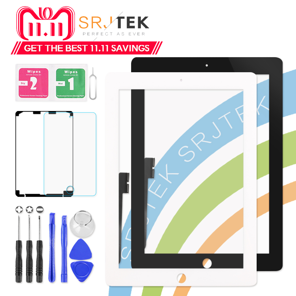 """9.7"""" Touch Screen For iPad 3 4 iPad3 iPad4 A1416 A1430 A1403 A1458 A1459 A1460 Digitizer Sensor Glass Panel with Home Button"""