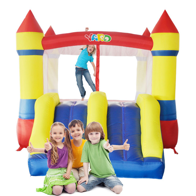 YARD Free Shipping In Stock Dual Slide Bouncy Castle Residential Use Inflatables Jumping Room For Kids Play