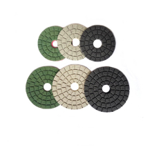 3 inch 80mm 4 100mm white buff black green diamond resin dry polishing pad for stone