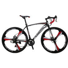 Cyrusher XC550 Racing Road Bike 700Cx28C Steel Frame 21 Speed 27.5″ Magnesium Alloy Rim Road Bicicleta Bicycle Double Disc Brake
