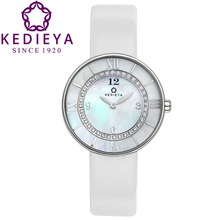 KEDIEYA Watch Brand Genuine Leather Double Layer Roma Style Pearl Dail 36 Zircons Diamond Waterproof Quartz Watch Gifts Woman