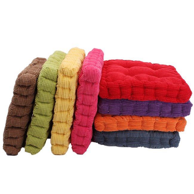 buy 1pc tatami floor cushion square plaid thick winter warm chair pad cushion soft washable corduroy home floor decor qb672720 from