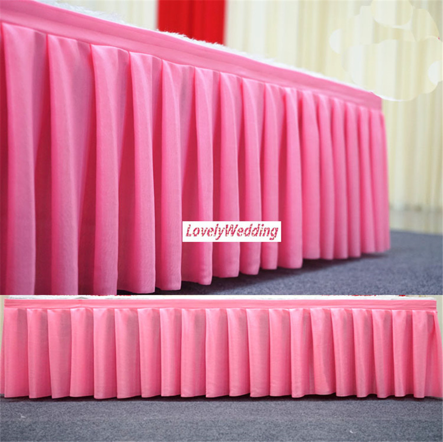 Ice silk table skirt wedding backdrop curtains for table clothes table cover wedding stage table skirting for event party