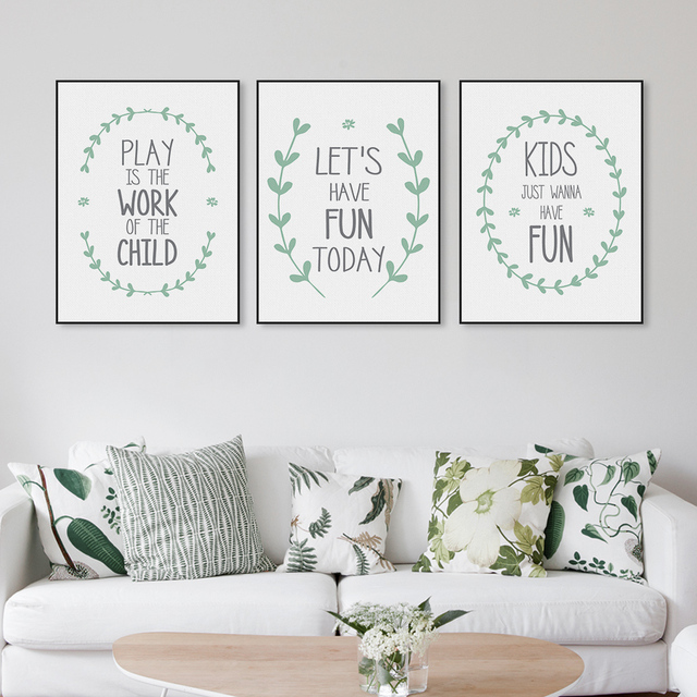 Minimalist Nordic Modern Fun Quotes Canvas Art Print Poster Nursery Wall  Picture Kids Room Decoration Painting