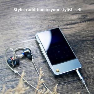 Image 4 - FIIO LC 2.5B LC 3.5B LC 4.4B MMCX Earphone Replacement cable 4 Strands of High Purity Silver Planted OCC Cable 1.2m