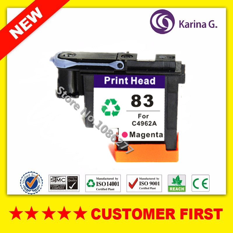 1x Magenta remanufactured For C4962A HP83 Printhead suit For HP Designjet 5000 5500 inkjet printer 1 set printhead cleaning kit for hp designjet 5000 5500 5100 1050 1055