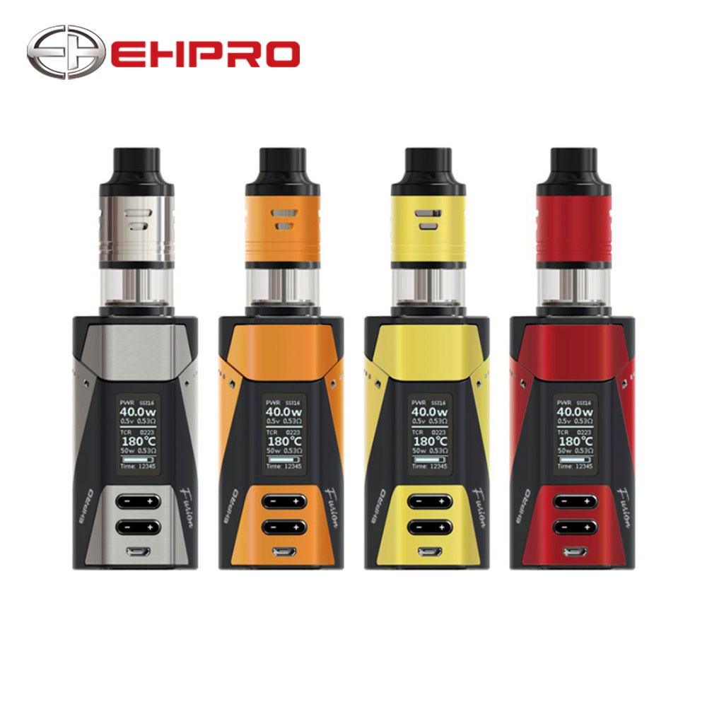 Original Ehpro 2-in-1 Fusion 150W TC Kit Max 150W W/ Fusion MOD & Fusion Tank 25mm & Dual Post Build Deck No 18650 Cell Ecig Kit fusion fpa 42