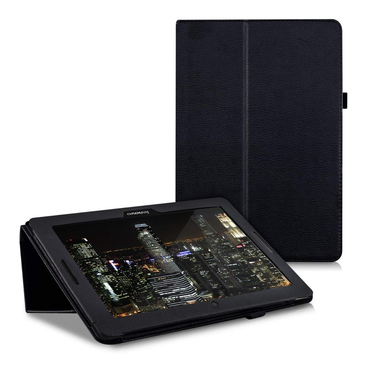 Para Lenovo Idea Tab A10-70 A7600 A7600h A7600f Flio Pu cuero Stand Tablet Cover para A7600 A10-80h 10,1 pulgadas de cristal