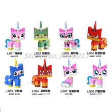 legoedly 80pcs/lot Stacking Unikitty Angry Astro Queasy
