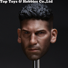 Copycat 1/6 Scale Punisher Daredevil Head Sculpt For 12'' Male Action Figure Toy Head Carvings For 12 Male Body Headply Toys mnotht black male soldier head carvings model wild curl up 1 6 scale smile kobe head sculpt toys for 12in action figures m3