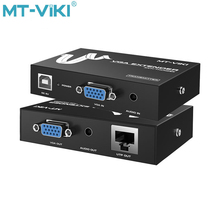 MT-Viki VGA Video Audio Extender 50m Repeater over UTP Single RJ45 CAT 5e CAT 6 LAN Cable With power HD1920*1080P MT-50T mt power se 16