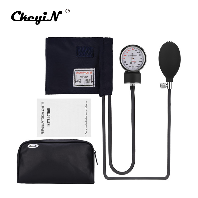 Manual Blood Pressure Measure Device Kit Cuff Stethoscope Home Use Doctor Systolic Diastolic Sphygmomanometer Health Monitor 2018 manual blood pressure cardiology stethoscope medical sphygmomanometer arm double head stethoscope health care