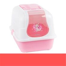 Plastic Litter Box Toilet Large Closed Enclosed Cat Box Toilet Sand Litter BedPan Pets Basin Shovel Restroom Trays Dog QQM2387