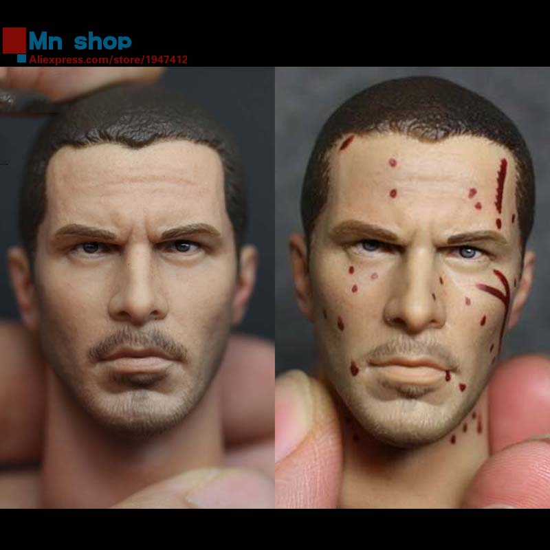 1/6 Head Sculpt Male Figure Doll Terminator Connor Damaged Head Carved Head Carving 1/6 Action Figure Accessories Toys Gift 1 6 head sculpt male figure doll guardians of the galaxy star lord head carving 1 6 action figure acccessories juguete toys gift