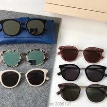 Нежные винтажные классические круглые ацетатные солнцезащитные очки es для женщин с v-образным логотипом солнцезащитные очки для мужчин oculos DIM солнцезащитные очки es с синей кожаной коробкой