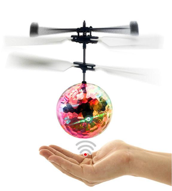 Kingtoy Colorido Flash bola de Recarga USB Helicóptero de Interior Juego Juguetes