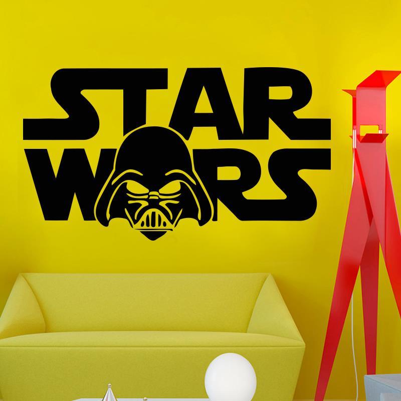 Autocollants Muraux Star Wars logo Darth Vader Cool Citation Art Décalcomanie Vinyle Décor Chambre