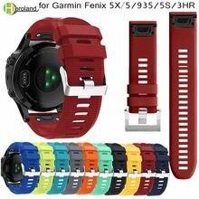 Bracelet de montre en Silicone à dégagement rapide EasyFit, 26 22 20mm, pour montre intelligente Garmin Fenix 5X 5 5s Plus 3 3HR S60 D2 Mk1