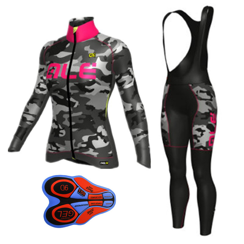 2018 New ALE Women Cycling Jerseys Spring/Autmun Quick Dry Bicycle Clothes Ropa Ciclismo MTB road Bike shirts