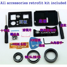Fat Cat DIY Upgrade Interchangeable Lens Modification Kit for GoPro Hero 3 3 Plus Black Action Camera