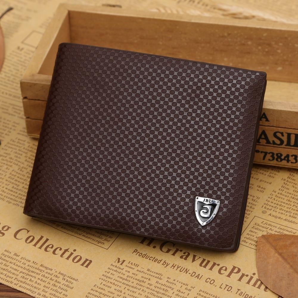 Short Men Wallets Cheap Designer Men's Wallet 2016 New Soft Leather Credit ID Card Slots Coin Pouch Purse Billetera Hombre