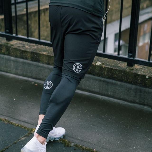 Hommes collants de Compression pantalons longs pantalons Joggers Leggings pantalon Joggers coupe ajustée Hombre Slim Fitness gymnases entraînement pantalon