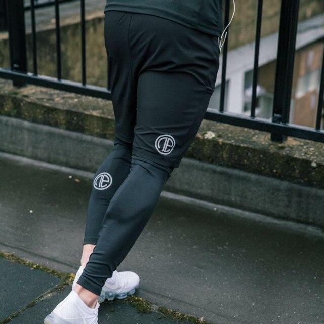 Rajstopy uciskowe męskie długie spodnie spodnie biegaczy spodnie legginsy biegaczy Slim Fit Hombre Skinny Fitness siłownie spodnie treningowe