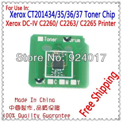 Тонер чип для Xerox DocuCentre IV C2260 C2263 C2265 2260 2263 Копер, устройство для ксерокса CT201434 CT201435 CT201436 CT201437 тонер чип