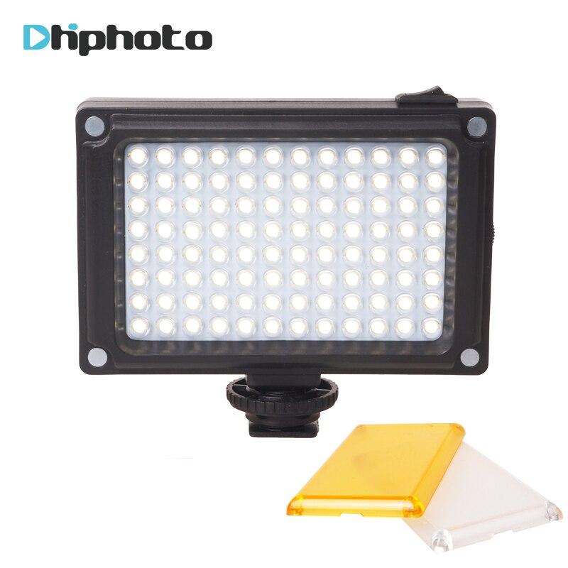 Ulanzi 96 Cámara LED Video luz foto estudio luz en la cámara con zapata caliente para Canon Nikon Sony DV SLR zhiyun Smooth Q Gimbal