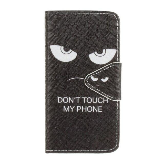 Ne Touchez Pas Mon Cas La Conception Du Téléphone Porte-monnaie Tpu Voor De Huawei P9 Lite xsWlZ