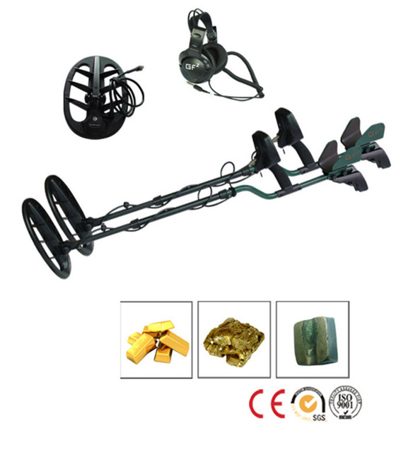 Professional Metal Detector GF2 Underground Metal Detector Gold High Sensitivity and LCD Display Metal Detector Finder