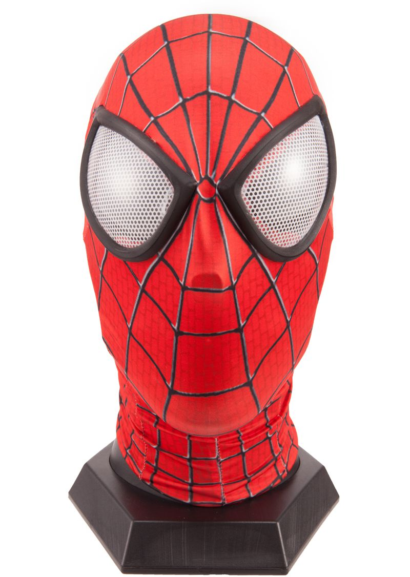 Uncategorized Spiderman Face Pictures quality new spiderman mask with lens amazing spider man face hero red spandex in costume accessories from nov
